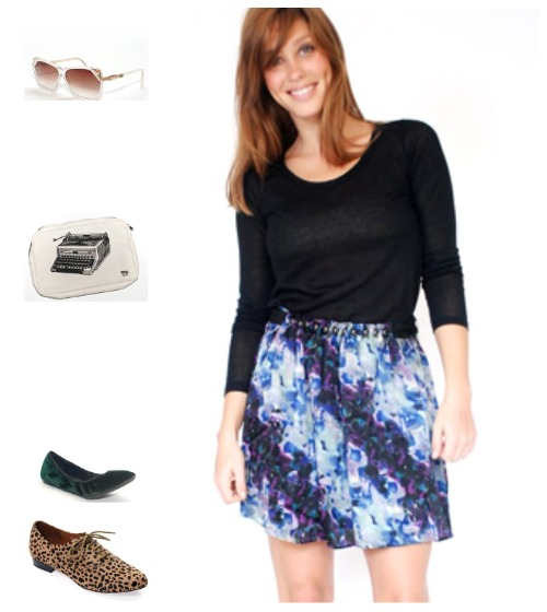 charlotte ronson house. watercolor skirt: charlotte