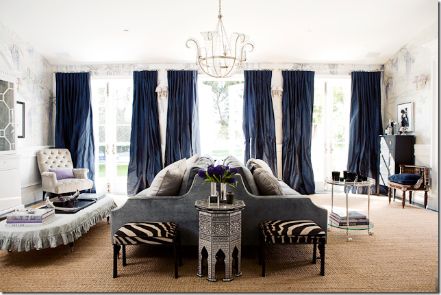 Winsor smith gorgeous navy living room