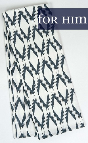 Ikat chevron tea towel